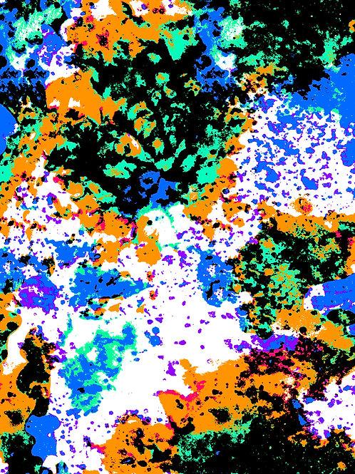 Ink - Grunge Blue Orange