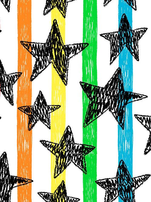 Drawn Stars - Stripes