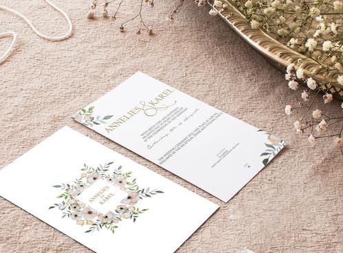 Creatie huwelijksuitnodiging