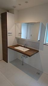 広島注文住宅洗面風呂