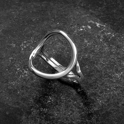 Halo ring. Handmade sterling silver Halo statement ring