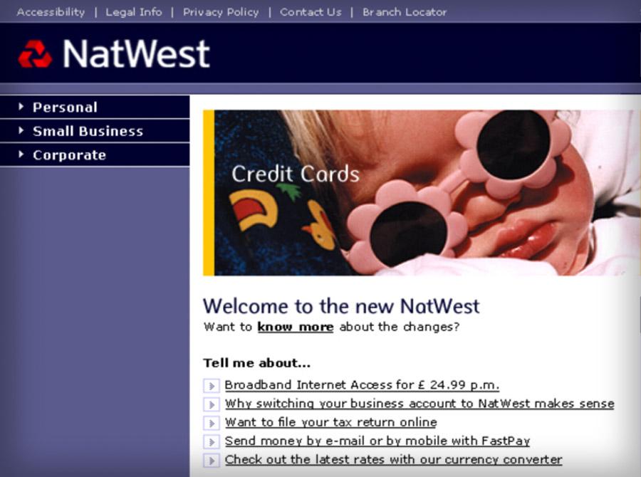 NatWest.com redesign