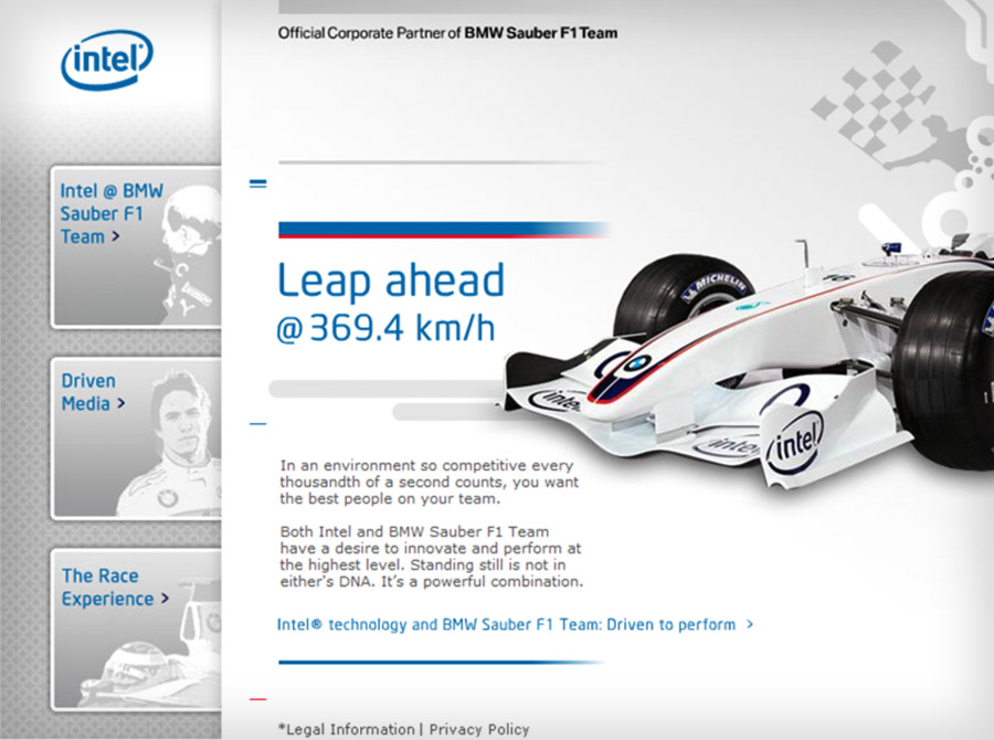 Intel F1 'Leap Ahead'