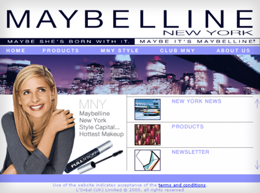 Maybelline website
