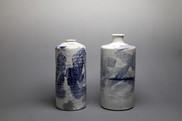 Buncheong Blue Bottles