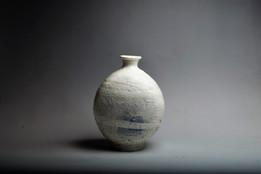 Buncheong Flat Bottle