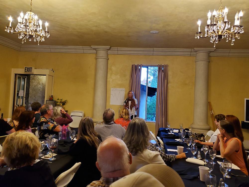 hotel leger vintage chandelier writers conference kathleen kent