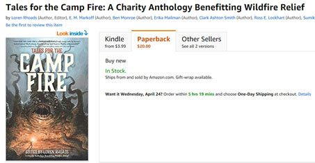 tales for the camp fire anthology wildfire relief fundraiser