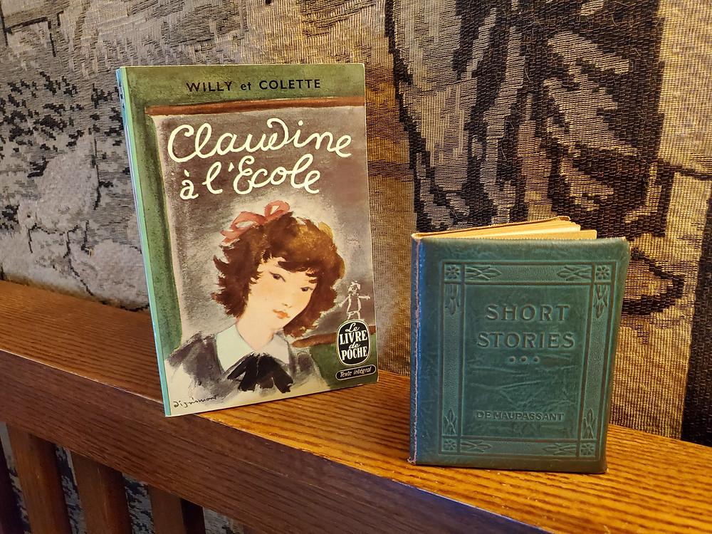 books vintage Claudine Colette short stories Guy de Maupassant