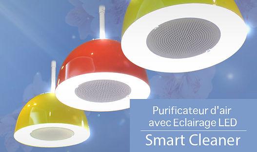 EUKOR Smart Cleaner - Purificateur d'air avec Eclairage LED