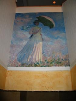 モネ『日傘を持つ女(右)』