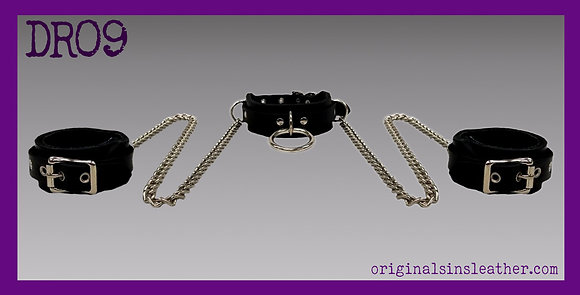 Wrist Restraint Collar With Chain