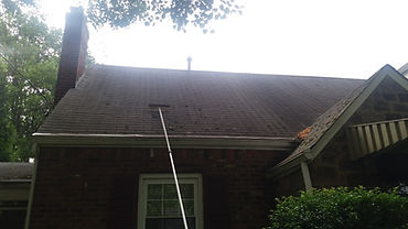 Bright House Power Washing roofs.