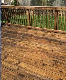 Bright House Power Washing wooden railings, steps, pergolas.