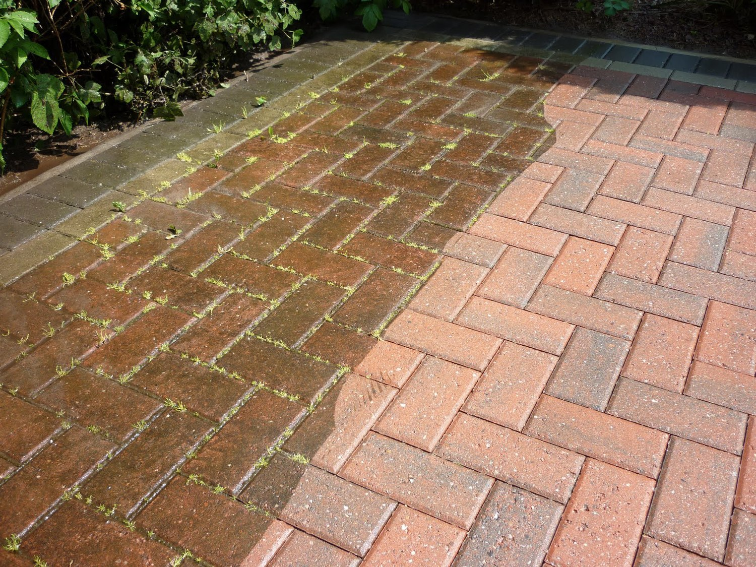 Power Washing Walkways and Masonry