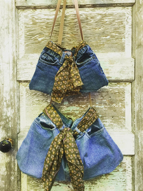Purses Upcycled From Jeans