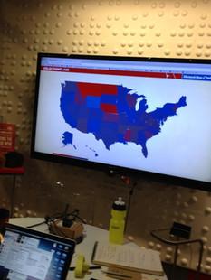 Social Media sentiment map for #ElectionClass