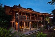 Stilted wooden longhouse