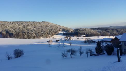 Winterwunderland über Nacht