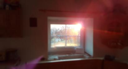 1. Sonnenaufgang durch die neuen Fenster