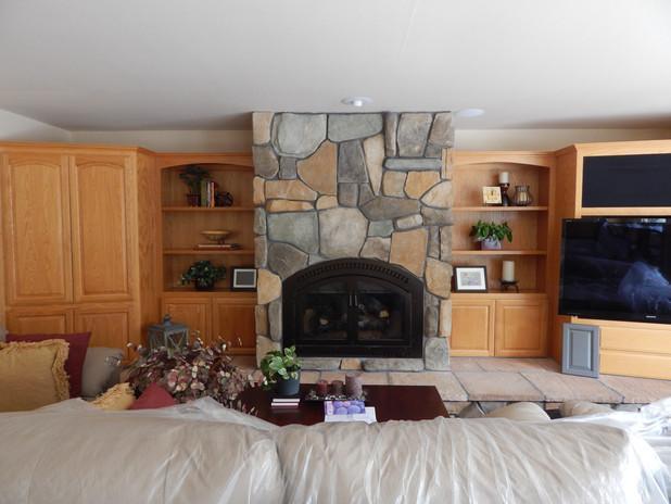 Before ~ Oak Wall Cabinets