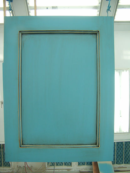 Spray Painted Cabinet Door
