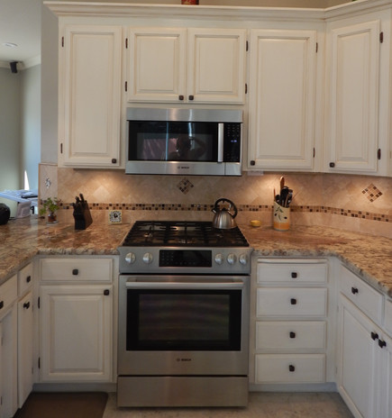 After ~ Painted and Glazed kitchen