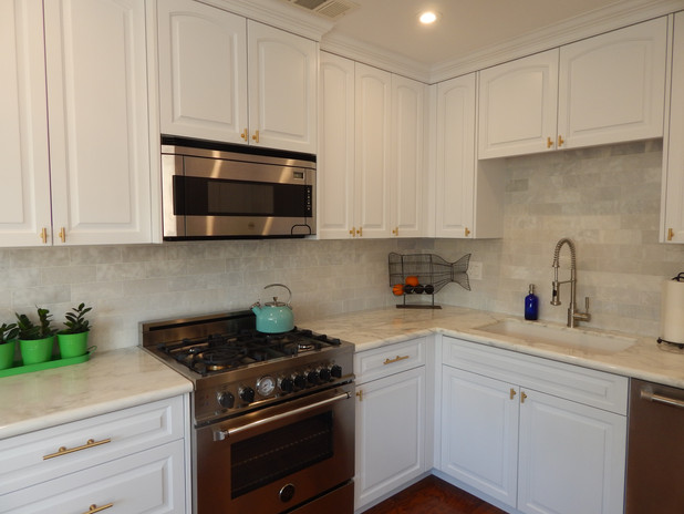 After ~ Gorgeous White w/ gold hardware