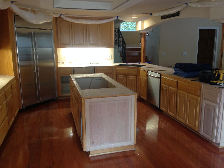 Before ~ Oak Kitchen Cabinets