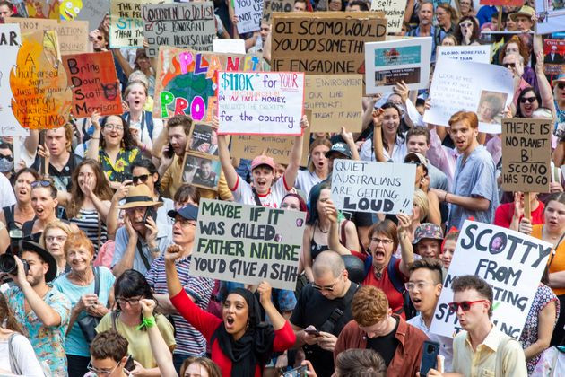 Public protest, Placards, Climate Change Rally