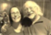 Photo of Juliette Valentina and her teacher, Steve Forrest.