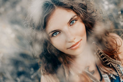 beautiful young boho woman, priestess