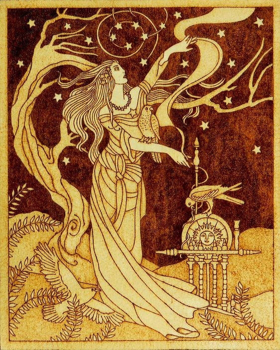The Norse Goddess Frigg is spinning.