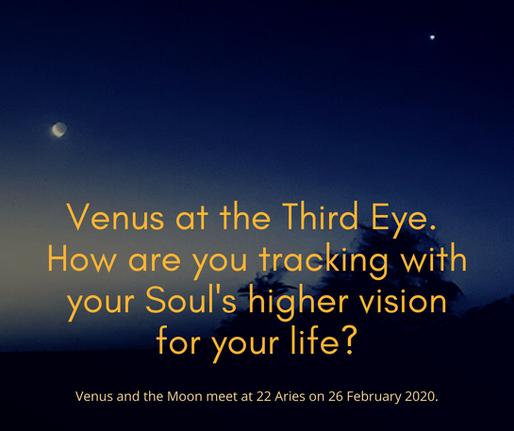 Venus enters the 6th Gateway of the Third Eye, 22 Aries