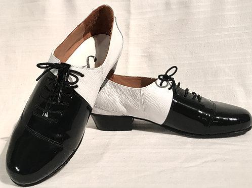Black Enamel & White