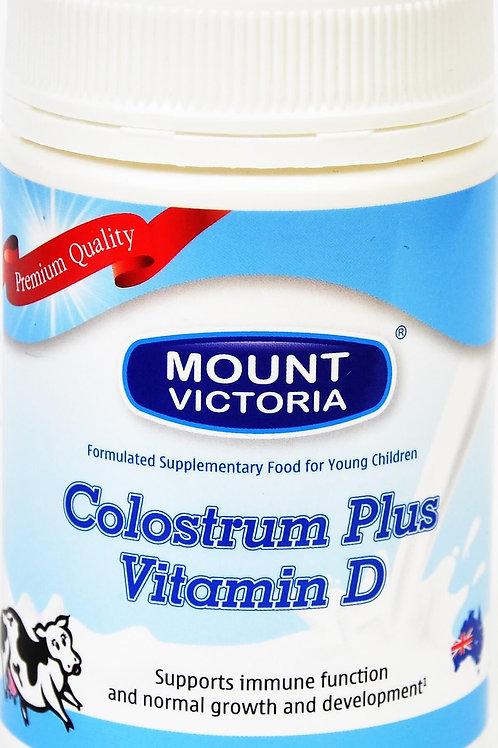 MOUNT VICTORIA Colostrum Milk Pwdr Plus Vit D 90g jar