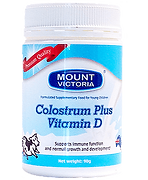 Mount Victoria Colostrum Plus Vitamin D, Support Immune fucntion
