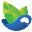 Auspristine australia logo, Vigour nutrition, vitality, Blue ocean green leaves,  Pure green seeds spouting from clean mother earth, Blue ocean from which green sprouts spring forth
