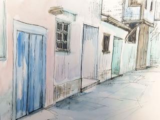 Watercolors of Kula, Turkey