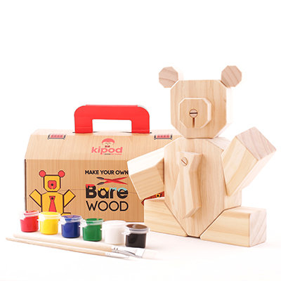 דובי עץ - משחק יצירה צעצוע מעץ לילדים