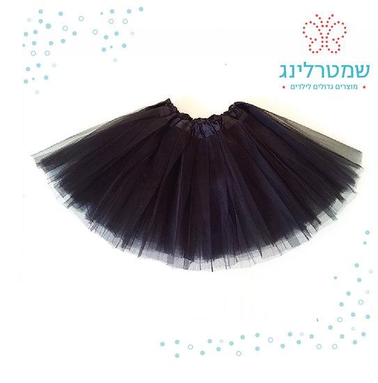 חצאית טוטו שחורה לנערות ולילדות גדולות