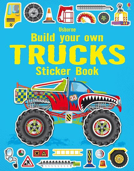 חוברת מדבקות גדולה - מדביקים משאיות