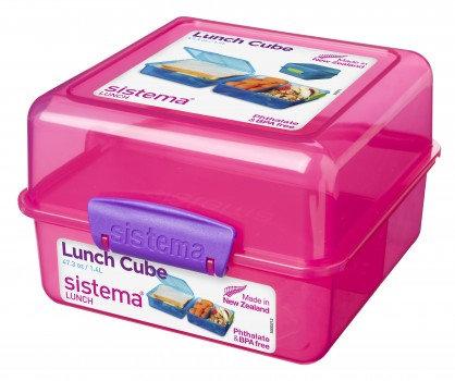 קופסת אוכל לילדים מחולקת דו קומתית מרובעת