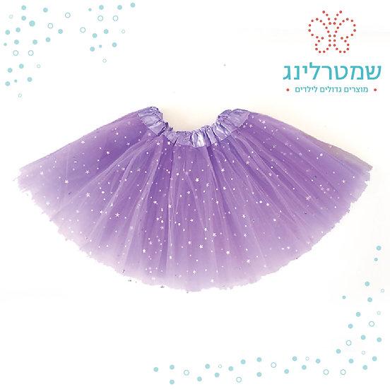 חצאית טוטו בצבע סגול בהיר עם נצנצים
