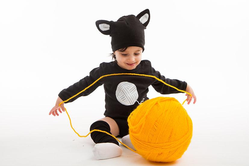 בגד גוף -תחפושת חתול לתינוקות