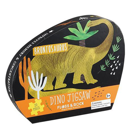 פאזל דינוזאורים בקופסה מעוצבת 20 חלקים