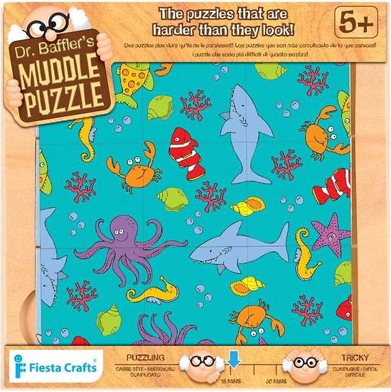 פאזל אתגרי- משחק חשיבה לילדים מעץ ים