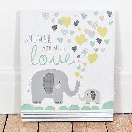 תמונת קנבס מאירה פילים