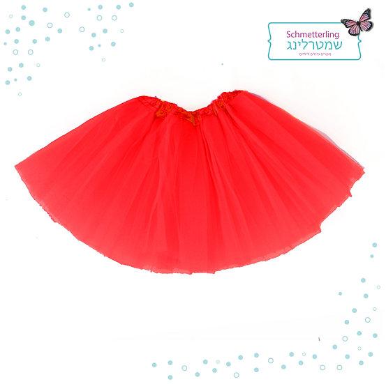 חצאית טוטו בצבע אדום