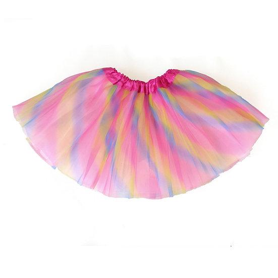חצאית טוטו צבעונית לילדות